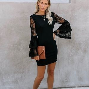 NWT Just One Kiss Lace Bell Sleeve Dress